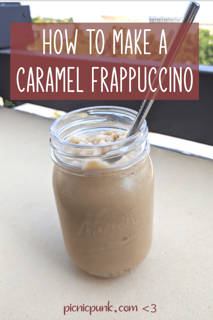 How to make a caramel frappuccino - easy homemade recipe - picnic punk